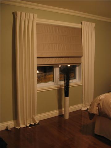 stores romains de chambre coucher boutons bobines cie. Black Bedroom Furniture Sets. Home Design Ideas